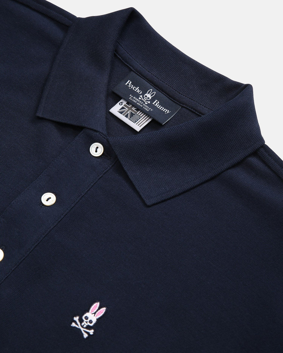 MENS LONG SLEEVE POLO - B6M658ARPC - NAVY