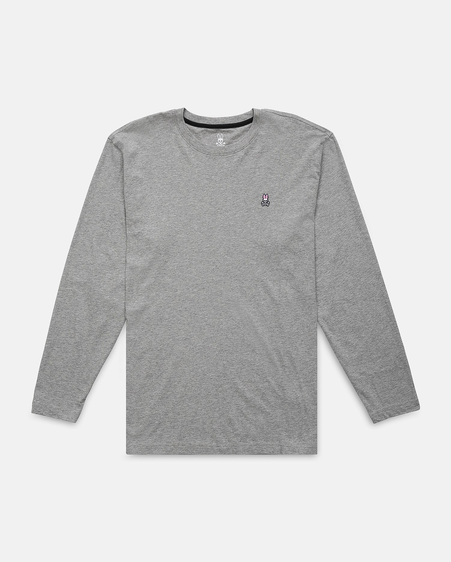 LONG SLEEVE CREW NECK TEE - B6T422ARPC - HEATHER GREY (HGY)