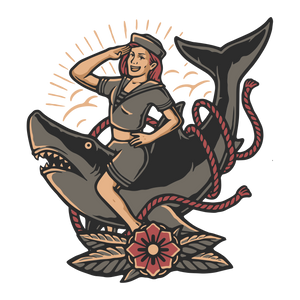 Lady on a Shark