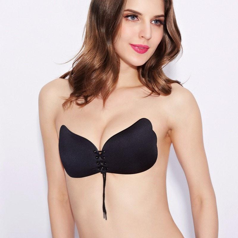 Strapless Black Push Up Bra