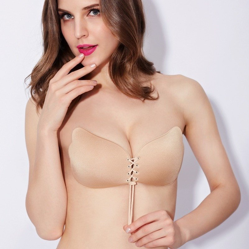 Strapless Nude Push Up Bra