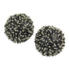 Caviar Post Earrings - Ebony