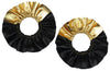 Zora Ruffle Earrings - Black