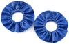 Maya Ruffle Earrings - Blue