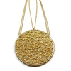 Caviar Gold Medallion Necklace