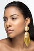 Chandelier Ball Drop Earrings - Gold