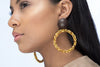 Caviar Hoop Earrings - Chocolate