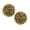 Caviar Post Earrings - Chocolate