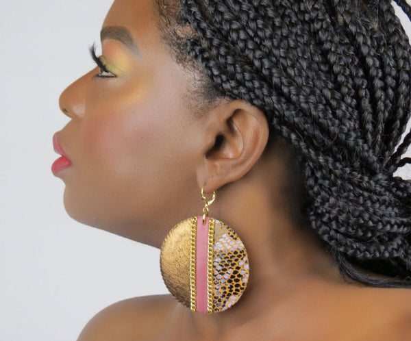 Colorblock Disc Earrings