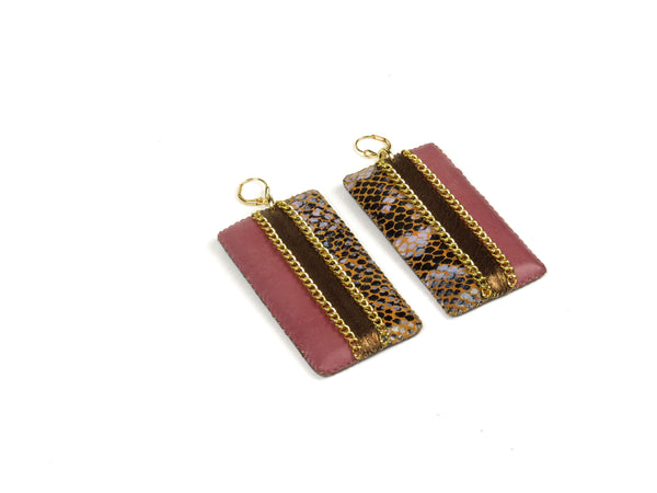 Colorblock Square Earrings