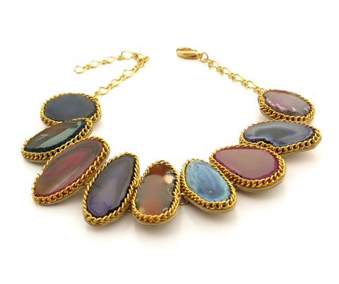 Colorful Gemstone Choker Necklace