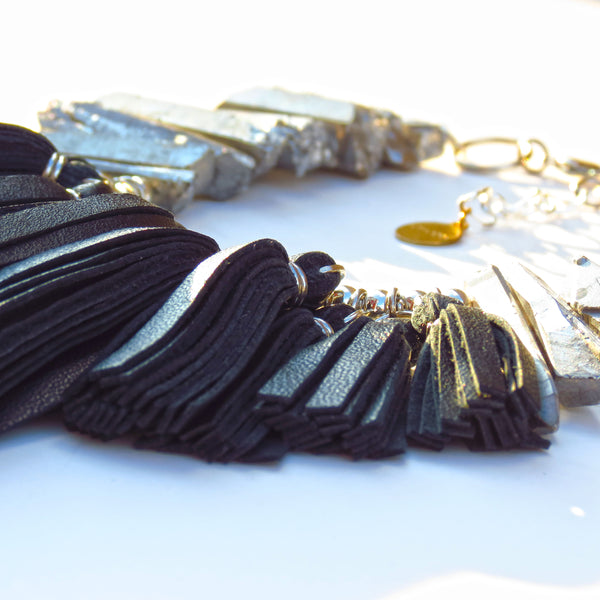 FLO Fringe Necklace - Black