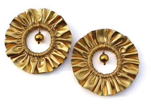 Halle Ruffle Earrings