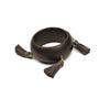 Jumbo Tassel Bangle Bracelet - Chocolate