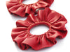 Maya Ruffle Earrings - Red
