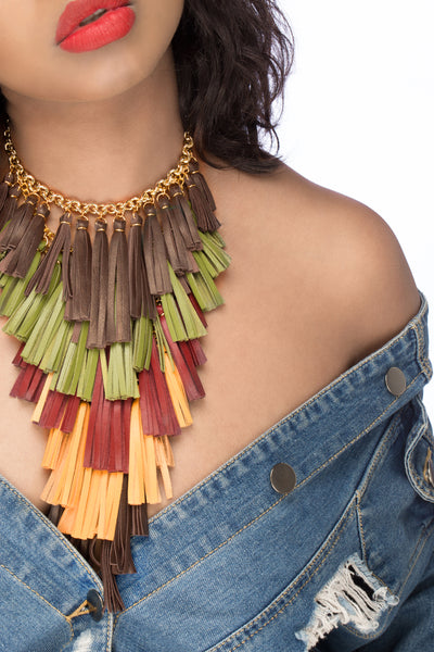 Waterfall Fringe Necklace