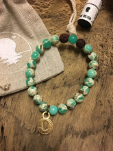 Green Snakeskin Agate Beach Scented Aromatherapy Bracelet