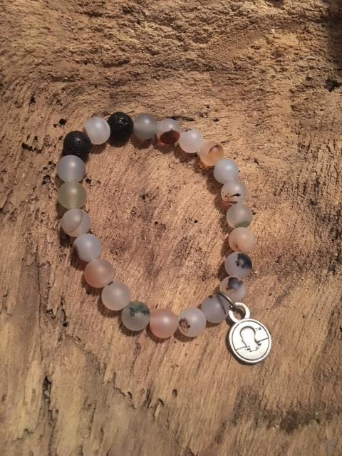Ocean Agate Beach Scented Aromatherapy Bracelet