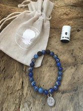 Blue Sea Sediment Jasper Beach Scented Aromatherapy Bracelet