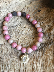 Rhodonite Beach Scented Aromatherapy Bracelet