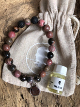 Black Lace Rhodonite Beach Scented Aromatherapy Bracelet