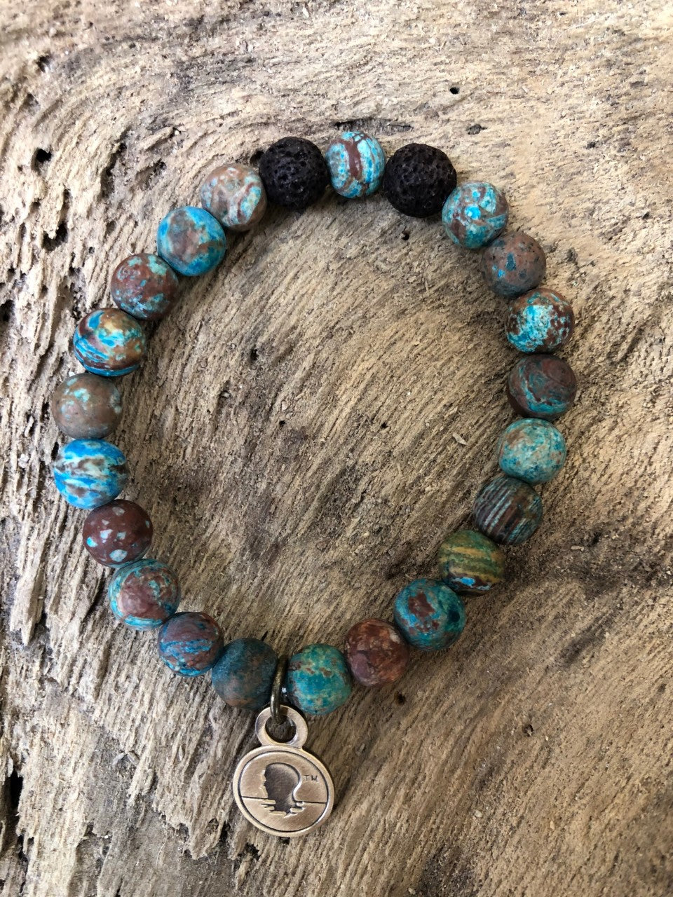 Blue Crazy Lace Agate Beach Scented Aromatherapy Bracelet