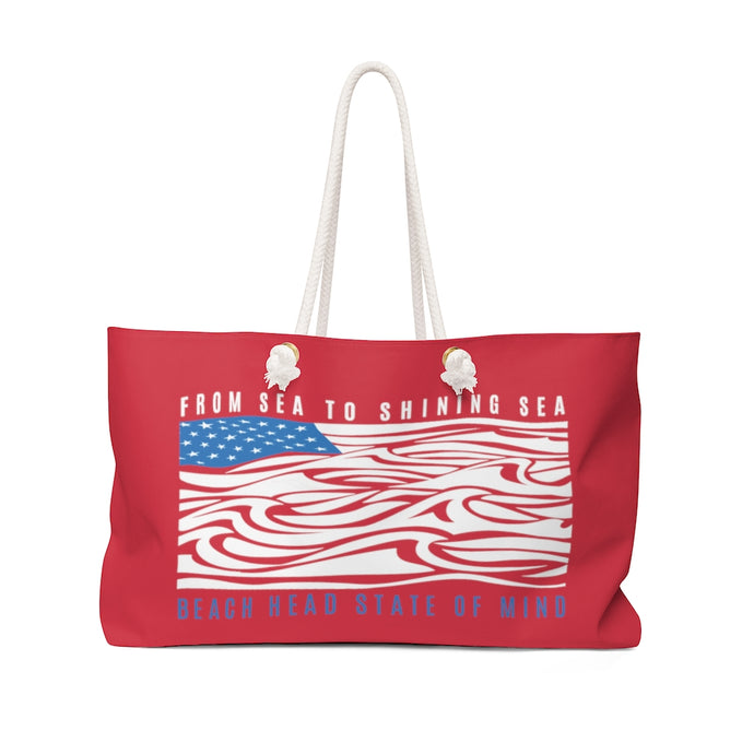 From Sea to Shining Sea Weekender Bag