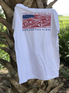 From Sea to Shining Sea Short Sleeve Cotton Tee