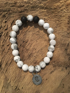 Howlite Matte Beach Scented Aromatherapy Bracelet