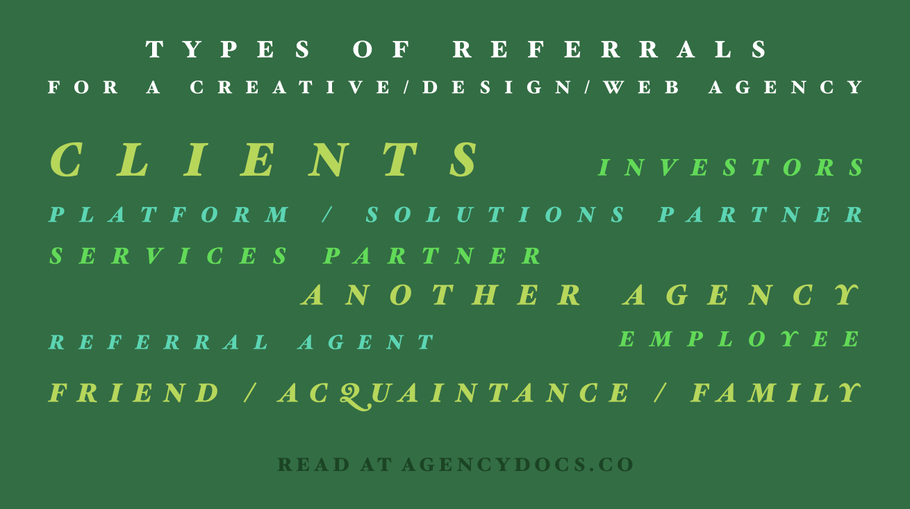 Sources of New Business Referral Leads for an Agency (8 Types Examined)