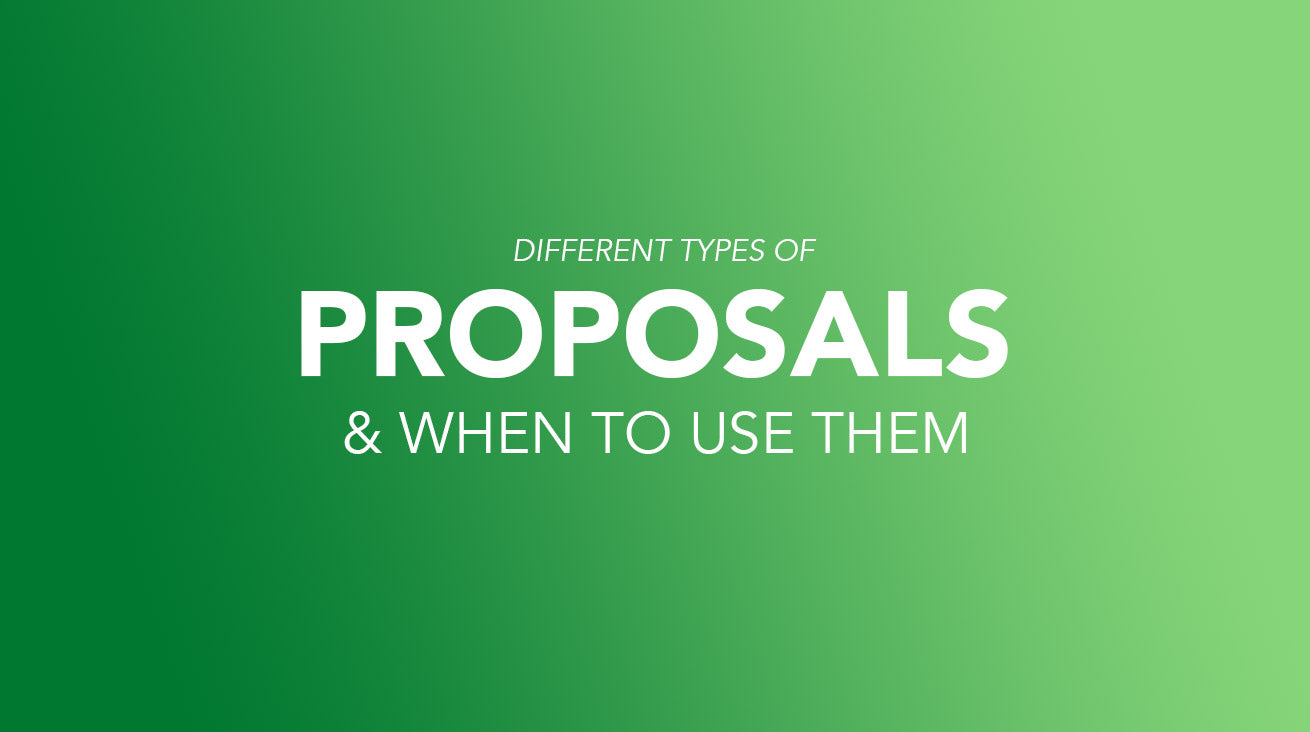 Proposals and when to use them