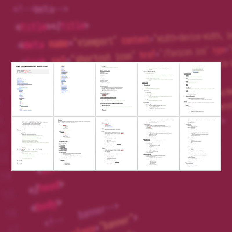 Functional Specs Template for Web Development (WordPress & Shopify) - AgencyDocs