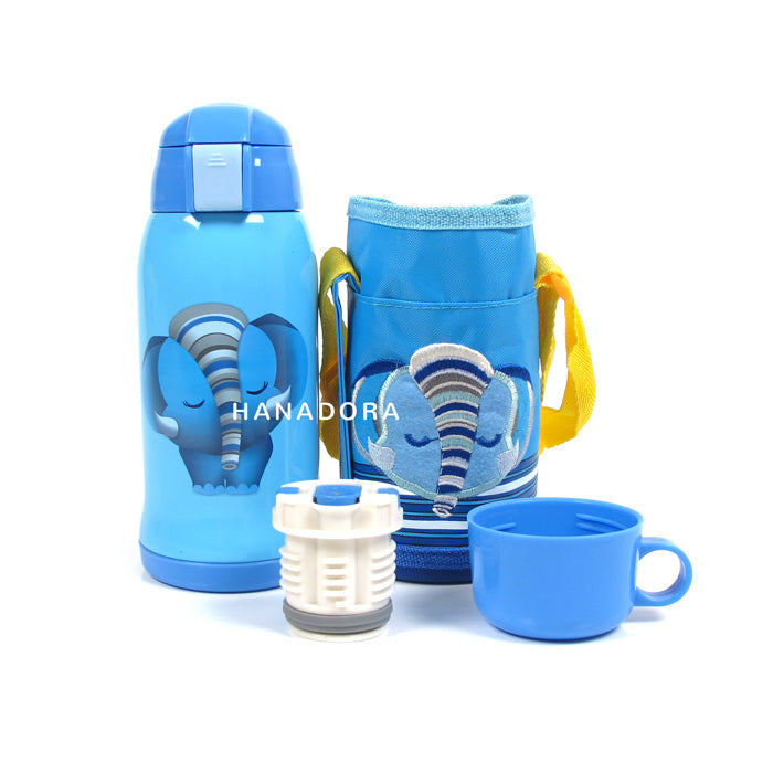 NB 2IN1 VACUUM BOTTLE WITH BAGS 650ML - ELEPHANT