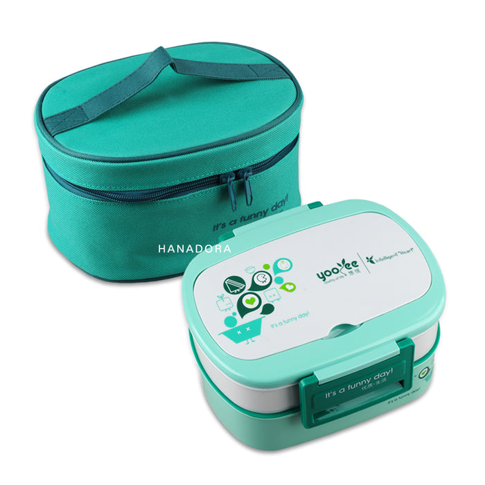 Yooyee Leakproof Lunchbox + Bag 591 - Hijau