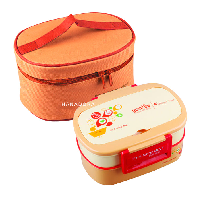 Yooyee Leakproof Lunchbox + Bag 591 - Orange