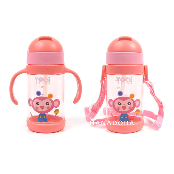 NB WATER BOTTLE WITH HANDLE & STRAPS 350ml 6018 - PINK