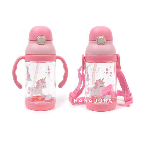 NB BOTTLE WITH HANDLE & STRAP 350ml 8815 - PINK