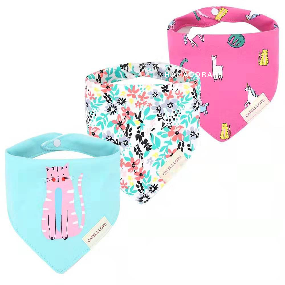 Catell Love Bib Scarf Set 3pcs BB03 - A