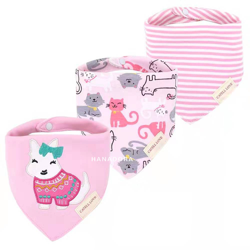 Catell Love Bib Scarf Set 3pcs BB03 - C