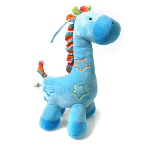 Musical String Plush Toy - Blue Giraffe