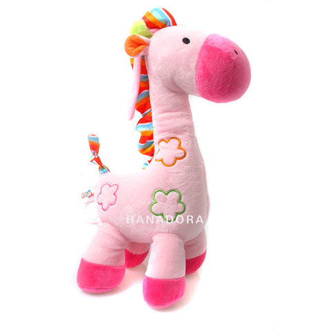 Musical String Plush Toy - Pink Giraffe