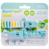 Born Free Bliss Pacifier Holder 2-pack - Green