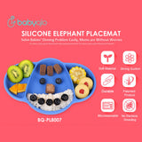 Babyqlo Silicone Baby Placemat Elephant PL8007 - Alas Makan Bayi