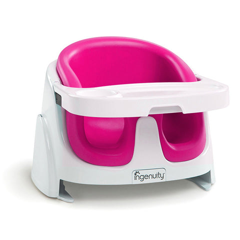 Bright Starts Ingenuity Baby Base 2-in-1™ Booster Seat - Magenta