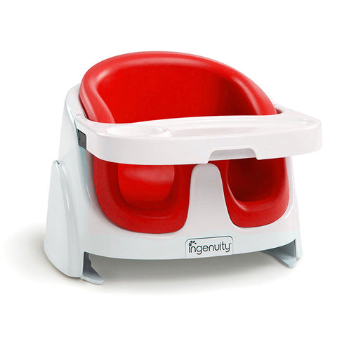 Bright Starts Ingenuity Baby Base 2-in-1™ Booster Seat - Poppy Red