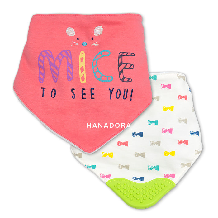 Bib Scarf Teether Set 2pcs - H
