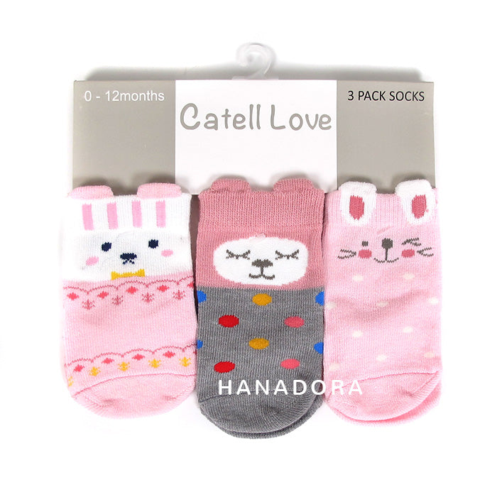 Catell Love 3 Packs Socks SC309 - Kaos Kaki Bayi