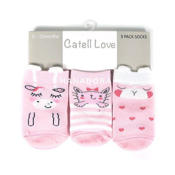 Catell Love 3 Packs Socks SC310 - Kaos Kaki Bayi