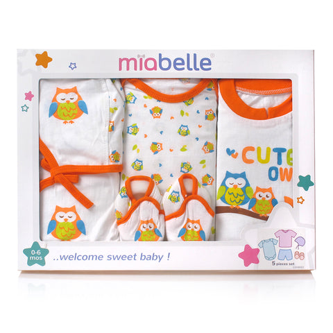 Miabelle Baby Gift Set GSMB002 Owl - Orange