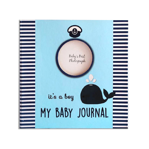 Hugmemom Baby Journal - Blue Whale